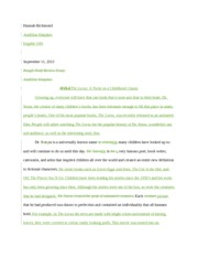 lorax movie review essay eng 100i