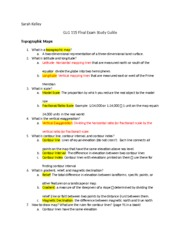 Final Study guide glg115