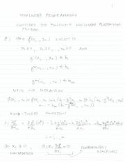 Econ 4001 Lecture notes 4 Kuhn-Tucker NLP