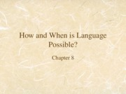 Linguistic Anth. Chapter 8