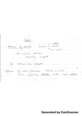 English Notes Lecture 7