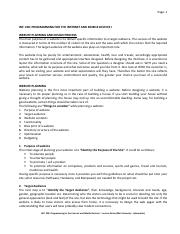INF 230 Lecture Notes 6 - Web Design Planning n Process