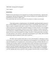 BHR 4680 Unit I Journal .docx