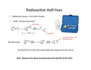 Radioactive Half Lives(1)