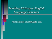 06 Teaching Writing