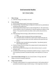 Environmental Science Unit 2 Notes Outline.docx