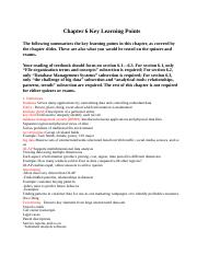 CIS3390_Chapter06_Key Learning Points