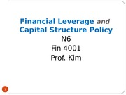 Fin4001 N6 Fin Leverage & Cap Structure Policy(1)