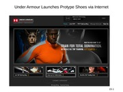 Under Armour Launches Protype Shoes via Internet