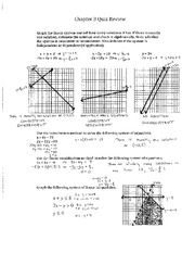 Ch. 3 Quiz Review Solutions