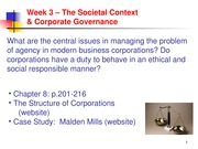 Week 3 Lecture and Notes - The Societal Context