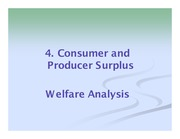 4 Consumer and Producer Surplus