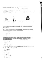 physics, displacement, position, velocity