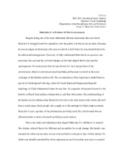 Malcolm X Revisited Essay 3