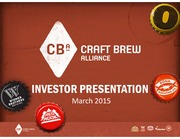 Craft Brew Alliance (BREW) Investor Presentation March 2015