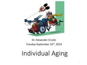 Lecture #3 Individual Aging