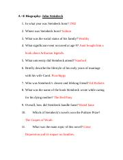 Steinbeck A +E biography questions.doc