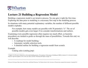 613 F13 Lec21 Building regression models