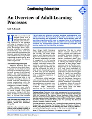 Adult Learning Process