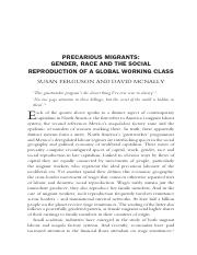 Ferguson S - Precarious Migrants Gender Race Social Reproduction Global Working Class.pdf