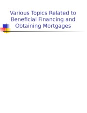 FI 436 Chapter 6 - Beneficial Financing.ppt