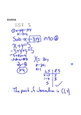 SOLVE A SYSTEM BY SUBSTITUTION NOTE PART 2