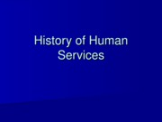 PP1 History of Human Services II
