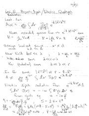 Lecture Notes H on Electricity and Magnetism