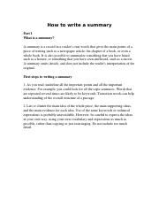 How to write a summary.docx