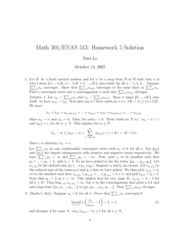 Math 301 Problem Set 5 Solutions