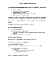 Lecture 7 Notes UDM Significance