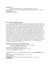 wittig lab report Second semester organic chemistry lab  the wittig reaction was named after  george wittig who converted carbonyl groups, such as aldehydes and ketones,.