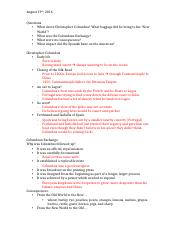History 2111 Chapter 2 Lecture Notes