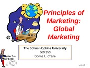 Lecture 6 Global Marketing for BB