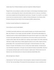 psychology synthesis paper example