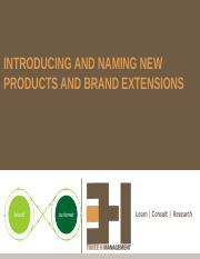 10. Introducting and Naming New Products and Brand Extensions