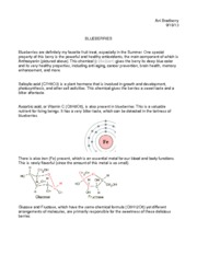 Chemistry of Cooking Homework 1