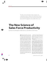 08 The New Science of Sales Force Productivity