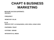 CHAPT 6 BUSINESS MARKETING FALL 07