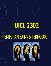 Bab 1 Manusia Pemikiran Pdf Uicl 2302 Pemikiran Sains Teknologi 1 Bab 1 Manusia Pemikiran Bab 2 Perkembangan Ilmu Zaman Pertengahan Bab 3 Agama Course Hero