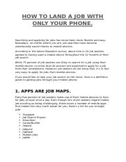 HOW TO LAND A JOB WITH PHONE.docx
