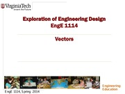 Exploration of Engineering Design Vectors