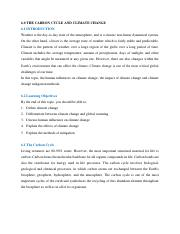 ENVI 201 - 6.0 Carbon cycle and Climate Change.pdf