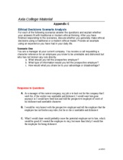 week 5 assignment-Ethical Decisions Scenario Analysis