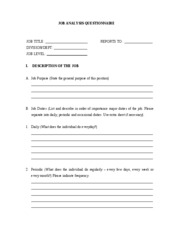 JOB QUESTIONNAIRE FORM