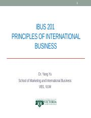 Topic 1 What is international business