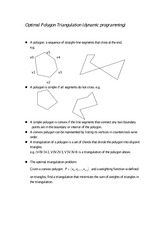 Optimal Polygon Triangulation