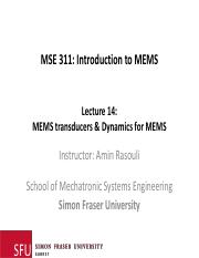 Lecture 14_Dynamics for MEMS