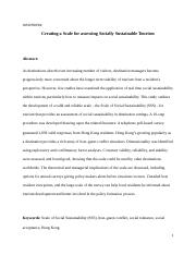 Creating a Scale for assessing Socially Sustainable Tourism.docx