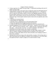 Essay on linear regression